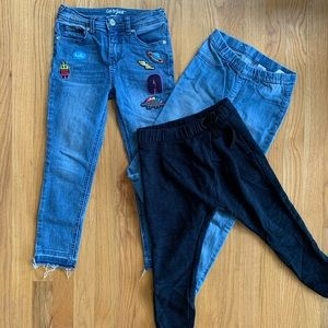 Lot of 3 pants and jeans for girls 6-8 years Zara